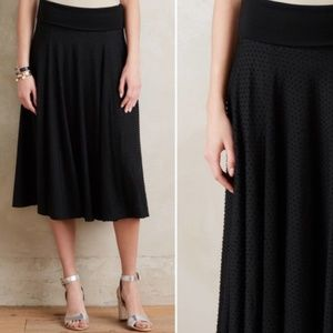 Maeve Anthro | Berkeley Textured Midi Skirt S